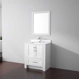 Virta 30 Inch Flow Floor Mount Single Sink Vanity - Without Countertop