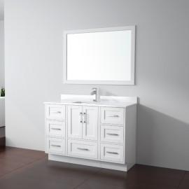 Virta 48 Inch Flow Floor Mount Single Sink Vanity - Without Countertop