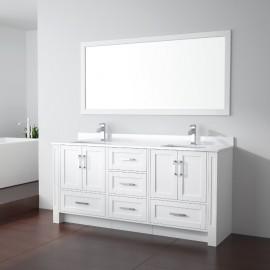Virta 72 Inch Flow Floor Mount Double Sink Vanity - Without Countertop