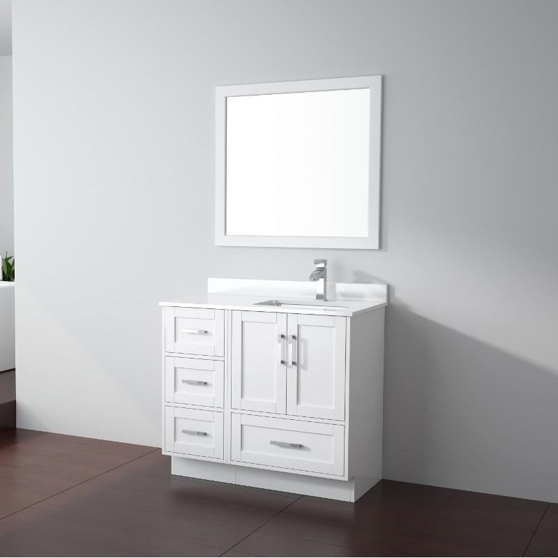 Buy Virta Flow Floor Mount 38 Inch Single Sink Vanity ...