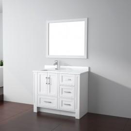 Virta 40 Inch Flow Floor Mount Single Sink Vanity - Without Countertop
