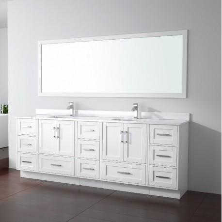 Virta 90 Inch Flow Floor Mount Double Sink Vanity - Without Countertop
