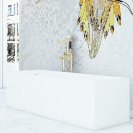 "Virta Cantata Freestanding Stone 67"" Bathtub"
