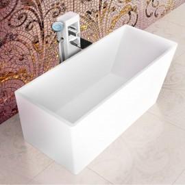 "Virta Andante Freestanding Stone 67"" Bathtub"