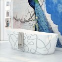 "Virta Casablanca Art Free Standing Acrylic 63"" Bathtub"