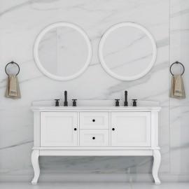 Virta 60 Inch Tempo Floor Mount Double Sink Vanity