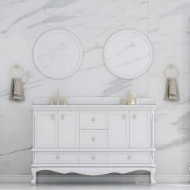 Virta 60 Inch Madera Floor Mount Double Sink Vanity