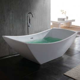 "Virta Viola Freestanding Stone 67"" Bathtub"