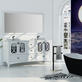Virta 72 Inch Romance Floor Mount Double Sink Vanity