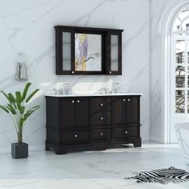 Virta 60 Inch Charm Floor Mount Double Sink Vanity