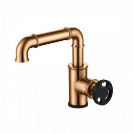 Empyrean ROSSO01 Rose Single Lavatory Faucet with Side Knurled Wheel