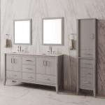 Virta 60 Inch Essence Floor Mount Double Sink Vanity