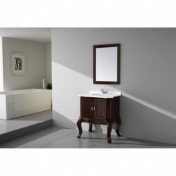 Virta 30 Inch TEMPO Solid Wood Floor Mount Vanity