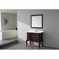 Virta 36 Inch TEMPO Solid Wood Floor Mount Vanity