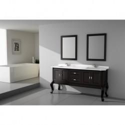 Virta 60 Inch TEMPO Solid Wood Floor Mount Vanity