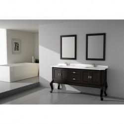 Virta 60 Inch TEMPO Solid Wood Floor Mount Vanity