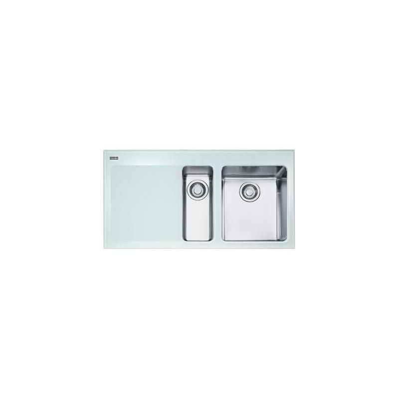 Buy Franke Kbv651w Sink Glass Frame Two Bowl Kubus Ss