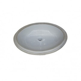 Fairmont Designs S-100WH Sinks Oval Ceramic Undermount Sink