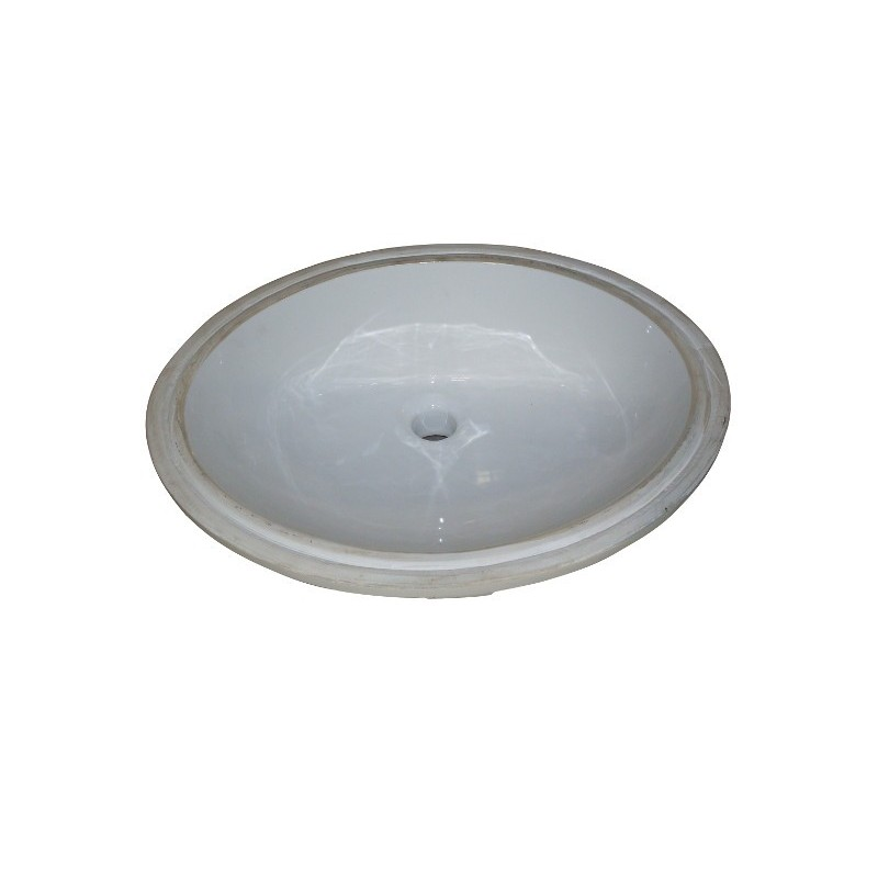 Undermount Sink Ceramic : ... Designs > Fairmont Designs S-100WH Sinks Oval Ceramic Undermount Sink