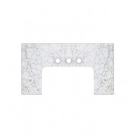 Fairmont Designs T-FV3823WC Tops 38 White Carrera WC Marble Top - Fits Farmhouse Vanity
