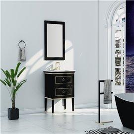 Virta 24 Inch Blackstar Floor Mount Single Sink Vanity