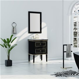Virta 30 Inch Blackstar Floor Mount Single Sink Vanity