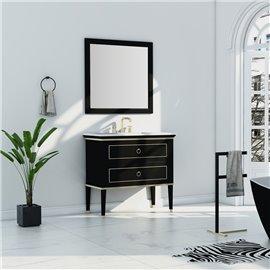 Virta 36 Inch Blackstar Floor Mount Single Sink Vanity
