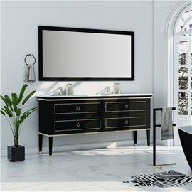 Virta 72 Inch Blackstar Floor Mount Double Sink Vanity