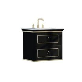 Virta 30 Inch Blackstar Wall Hung Single Sink Vanity