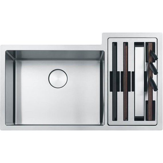 Franke CUX160-21 CULINARY CENTER SS SINK 19 GAUGE W/ ACCESSORIES -STAINLESS STEEL