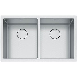 Franke PS2X120-14-14 PROFESSIONAL SERIES 2.0, DOUBLE SINK. 8 MM RADIUS, INLCUDED ACCESSORIES