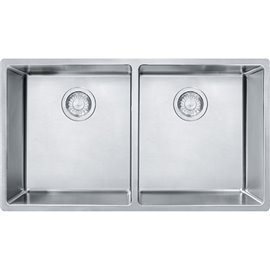 Franke CUX120 CUBE - UNDERMOUNT SINK DOUBLE SS -STAINLESS STEEL