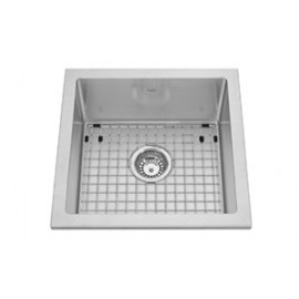 Kindred KCS21SR 18 gauge Semi-recess kitchen single bowl 10 mm radius includes grid