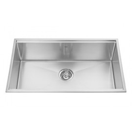 Kindred KCS33 18 gauge Designer Series topmount single bowl 10 mms radius includes grid glass board with cutting mats and sta...