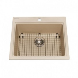 Kindred KGSL2023 Granite drop-in single bowl 1 hole includes grid