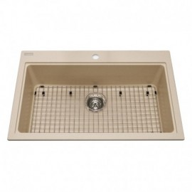 Kindred KGSL2031 Granite drop-in single bowl 1 hole includes grid
