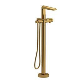 Riobel Parabola PB39 2-way Type T thermostatic coaxial floor-mount tub filler with hand shower