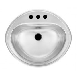 Kindred KSOV1619 18 gauge stainless steel drop-in vanity basin