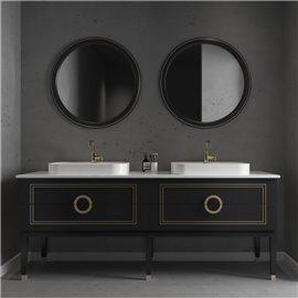 Virta 60 Inch Sarah Floor Mount Double Vessel Sink Vanity