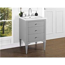 "Fairmont Designs Charlottesville w/Nickel 24"" Vanity - Light Gray"