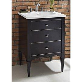 "Fairmont Designs Charlottesville w/Nickel 24"" Vanity - Vintage Black"