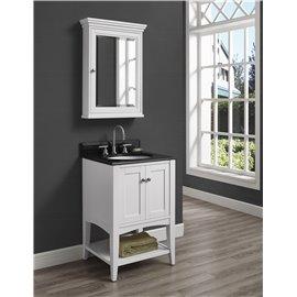 "Fairmont Designs Shaker Americana 24"" Open Shelf Vanity - Polar White"