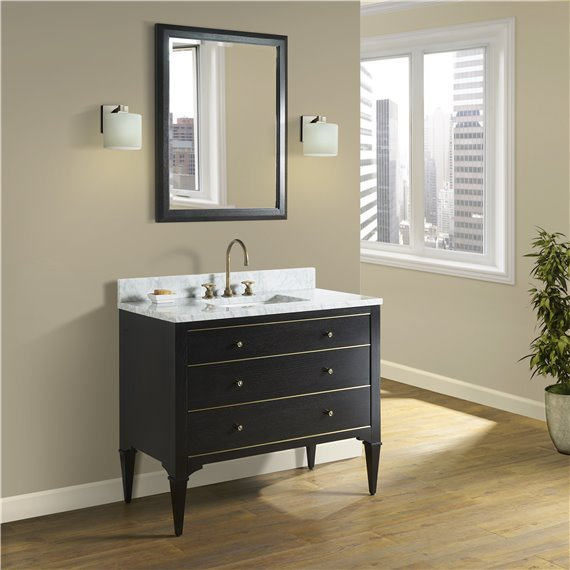"""Fairmont Designs Charlottesville w/Brass 42"""" Vanity - Vintage Black"""