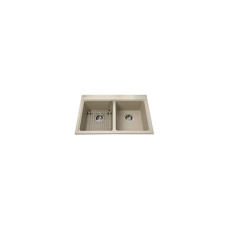 Buy Kindred Kgdl2031 Granite Drop In Double Sink 1 Hole Includes Grid At Discount