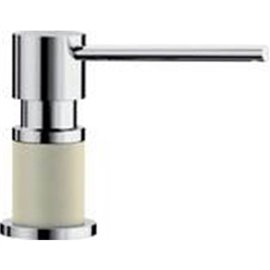 BLANCO LATO SOAP DISPENSER, CHROME/BISCUIT